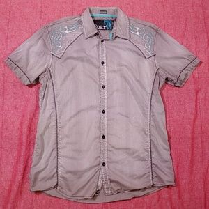 Roar Signature short sleeve button down shirt XL